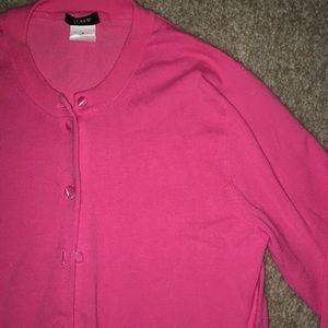J.Crew Pink Cardigan Sweater Small